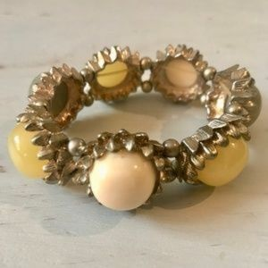 Anthropologie Jewelry - Anthropologie Color Bauble Bracelet Elastic Band